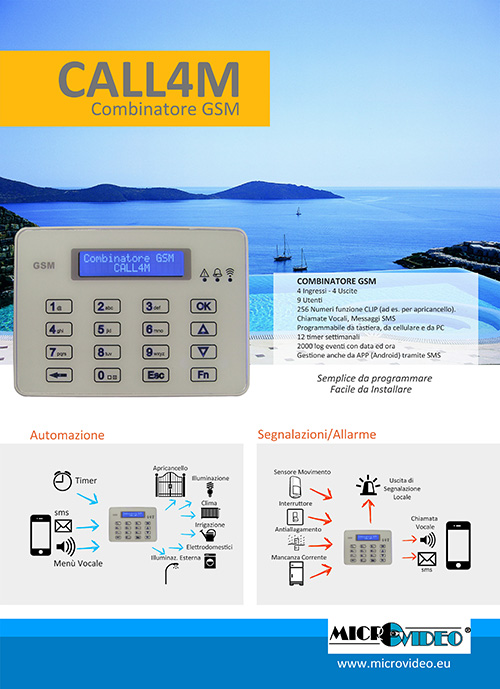 Brochure combinatore telefonico gsm CALL4M